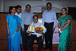 Dr.V.Sudesh was felicitated by the dignitaries.