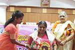 Kum. Nagalakshmi Bai was felicitated by Smt.  Saroja  K.M.  Nanjappa : Hon. Asst. Secretary, Seshadripuram Educational Trust,Sri  K.  Krishnaswamy, Chairperson, Governing Council, Seshadripuram Law College, Prof.  Nirmala  D. Principal graced the Occasion.