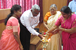 Kumari  Nagalakshmi  Bai inaugurated the function by lighting the lamp with other dignitaries