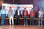 Students of Seshadripuram Law College participating in fashion show