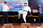 Students of Seshadripuram Law College exhibiting martial arts talent.
