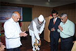 Dr. J. S. Patil, former Vice-Chancellor, Karnataka State Law University, Hubballi inaugurating  the workshop.