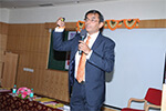 Mr. Kiran B. S, Advocate addressing the  students during the technical session