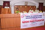 Sri. Mangaluru Vijay, Social Activist & Writer, Gandhi Bhavan addresses the gathering